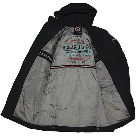 Зимняя подростковая куртка для мальчика 164-170 рост ZPJV черная, фото 2