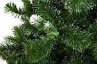 Елка искусственная зеленая 1.5 м  Карпатская с белыми кончиками с подставкой, ель сосна зеленая из пленки ПВХ, фото 4