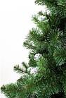 Елка искусственная зеленая 1.5 м  Карпатская с белыми кончиками с подставкой, ель сосна зеленая из пленки ПВХ, фото 5