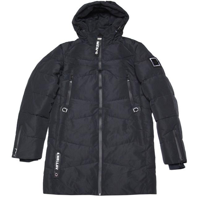 подростковая зимняя куртка для мальчика черная
