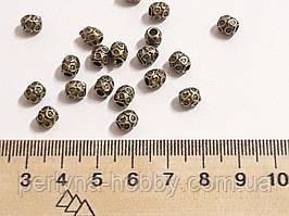Фурнітура для біжутерії намистина металева . Фурнитура для бижутерии  5 мм. Колір бронза. Ціна за 10 штук.