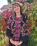 Рябина 352-19, павлопосадский платок шерстяной  с шерстяной бахромой, фото 4