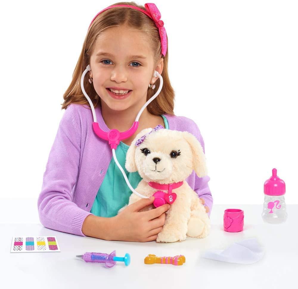Интерактивный щенок Barbie в сумочке набор Ветеринара Barbie Kiss and Care Pet Doctor