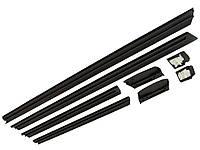 Молдинги Audi 100/A6 до 97г нижние резиновые (внутри метал основа) комплект 8шт с клипсами 4A0853959 01C