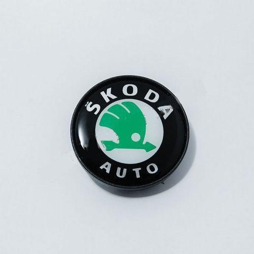 Ковпачок для диска Skoda black (58 мм)