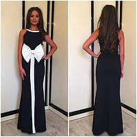 Платье с белым бантом