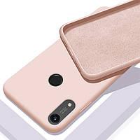 Чехол Silicone Case Full для Huawei Y6s Pink Sand