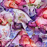 10955-15, павлопосадский шейный платок шелковый (крепдешиновый) с подрубкой, фото 8