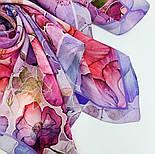 10955-15, павлопосадский шейный платок шелковый (крепдешиновый) с подрубкой, фото 7