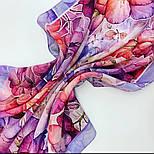 10955-15, павлопосадский шейный платок шелковый (крепдешиновый) с подрубкой, фото 9