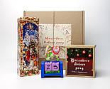 """Подарунок новорічний """"Щастя назавжди"""": Кіт - вічний календар, Новорічне печиво з передбаченнями, чай, фото 2"""