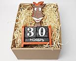 """Новогодний подарок """"Конь не просто так"""": деревянный вечный календарь - Символ времени и цикличности жизни, фото 5"""