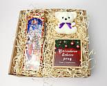 """Бокс новогодний  """"Мой медвежонок"""": новогоднее печенье с предсказаниями, набор чая, междвежонок-талисман, фото 2"""