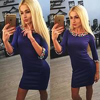 """Нарядное женское платье мини """"Камни"""" 42-60р РАЗНЫЕ ЦВЕТА"""