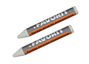 Мел маркировочный Favorit восковой белый 2 шт (04-340)