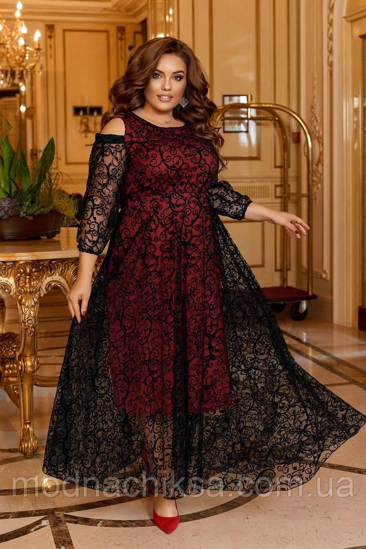 Шикарное батальное платье