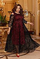 Шикарное батальное платье, фото 1