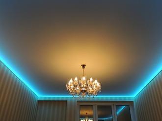 Натяжные потолки с скрытой подсветкой