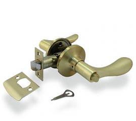 Ручка защелка Apecs 891-03-GM с фиксацией (Матовое золото)