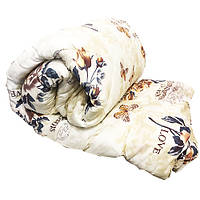 Одеяло Lotus flower холлофайбер 175/210 белый+цветы