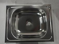 Кухонная мойка ASIL из хромоникелевой нержавеющей стали, новая, нержавейка 40 см на 50 см, фото 2