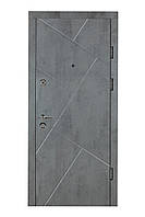 Двери входные металлические Булат К6 850*2050/950*2050 171 Бетон темный/ Бетон серый