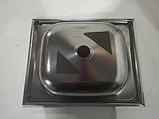 Кухонная мойка ASIL из хромоникелевой нержавеющей стали, новая, нержавейка 40 см на 50 см, фото 3