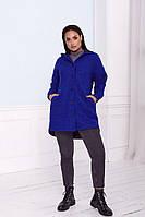 Женское пальто-рубашка с капюшоном, фото 1