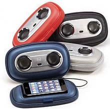 Чехол портативная колонка для телефона Go travel в ретро стиле (разные цвета) для смартфонов до 5 дюймов