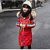 """Зимовий пухове пальто на дівчинку """"Веселка"""" Фабричний Китай 120р/160р"""