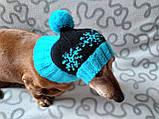 Шапка для собаки,шапка для таксы,одежда для домашних животных, фото 7