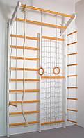 Детский домашний спортивный комплекс Комби TrioEnotov бело-оранжевый базовый комплект