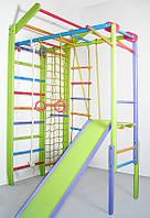 Детский домашний спортивный уголок Лиана TrioEnotov цветной и комплекс Комби