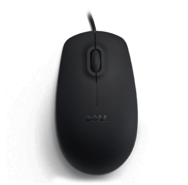 Максимально комфортная проводная Мышь USB DELL MS111 для компьютера и ноутбука Черный