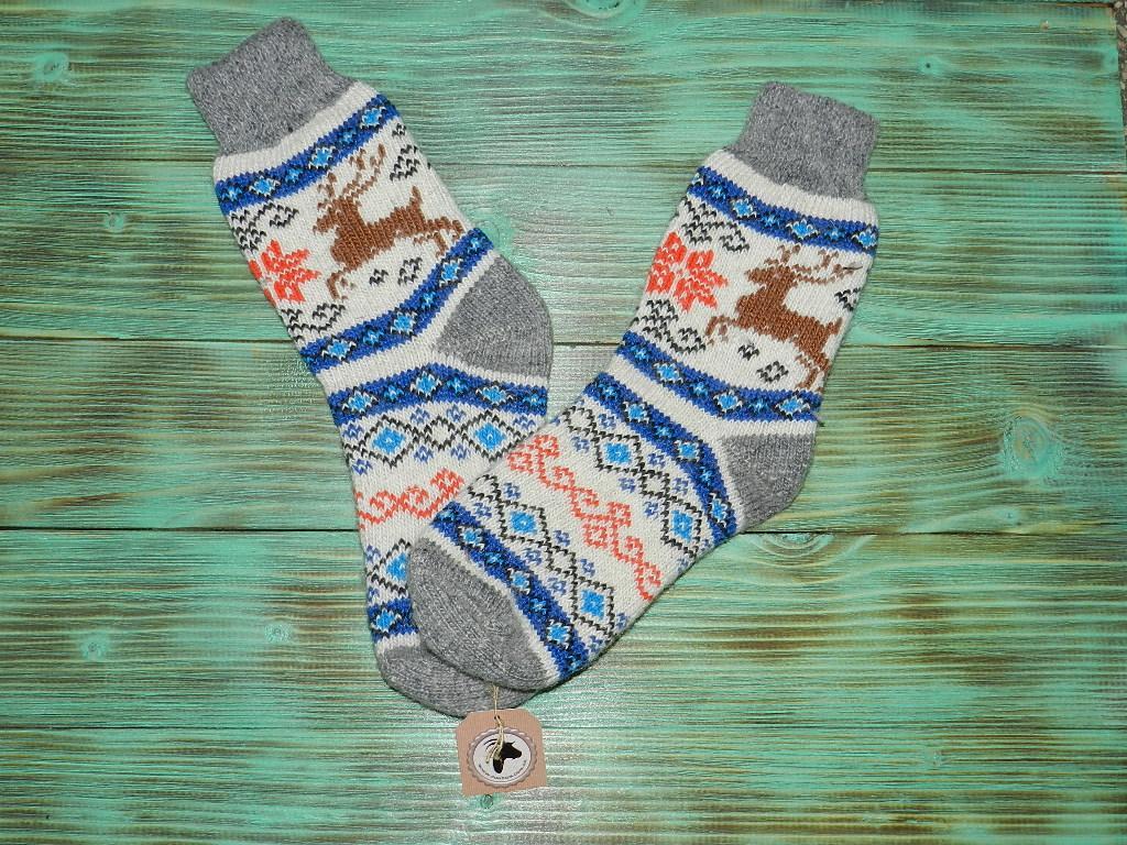 Шкарпетки з ангорської вовни 24 см