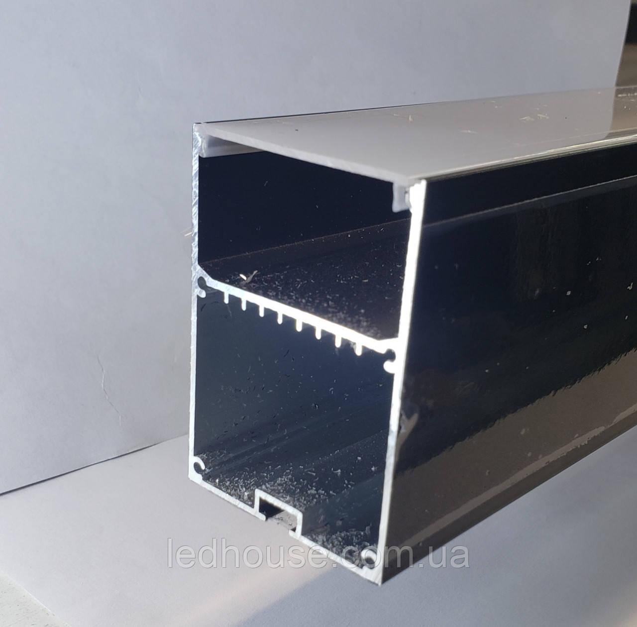 Профиль для светодиодной ленты ЛСБ-50х70 Черный
