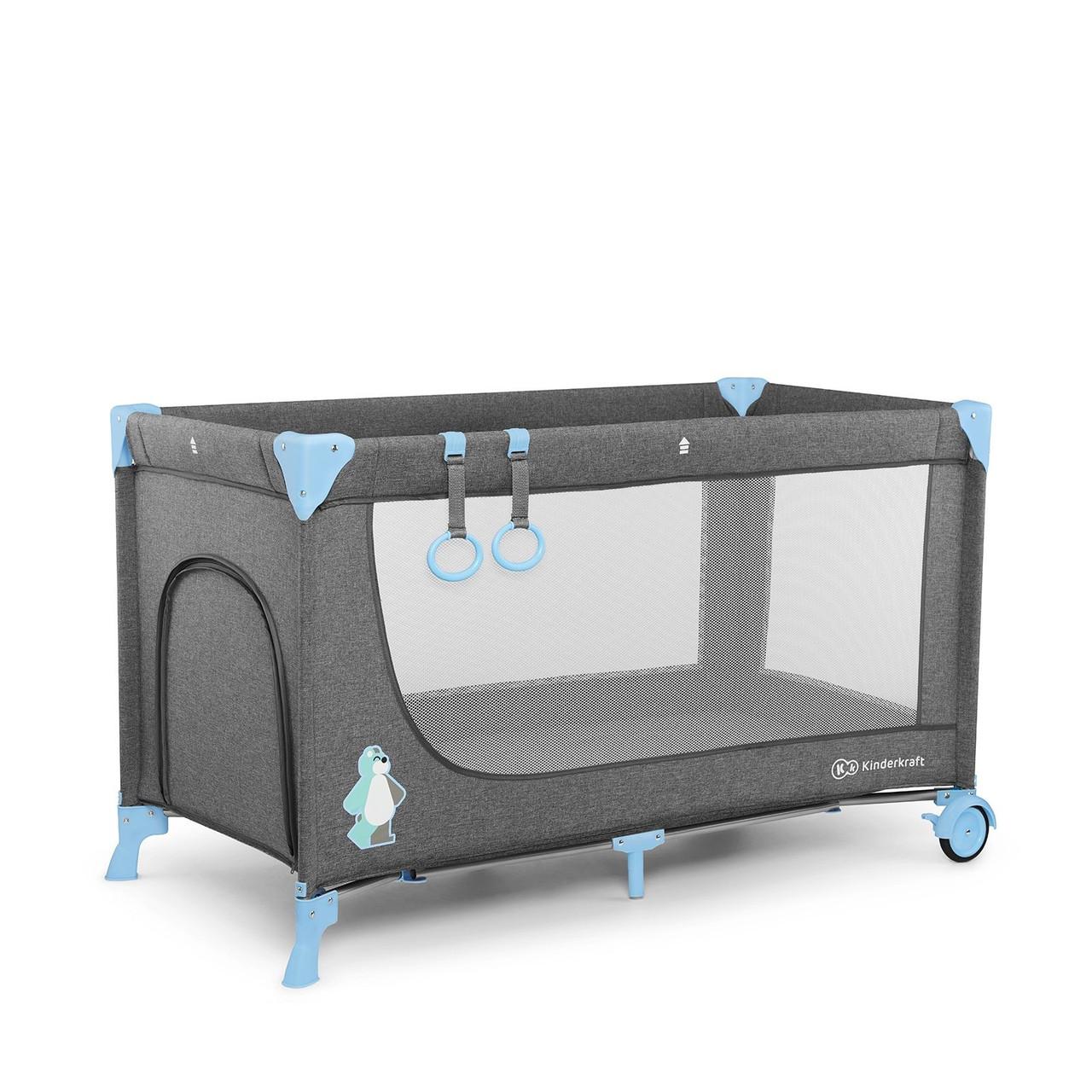 Детский большой манеж-кровать Kinderkraft Joy blue