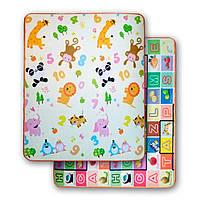 Развивающий двухстронний детский игровой термо коврик для ползания  1500*1800*10, фото 1