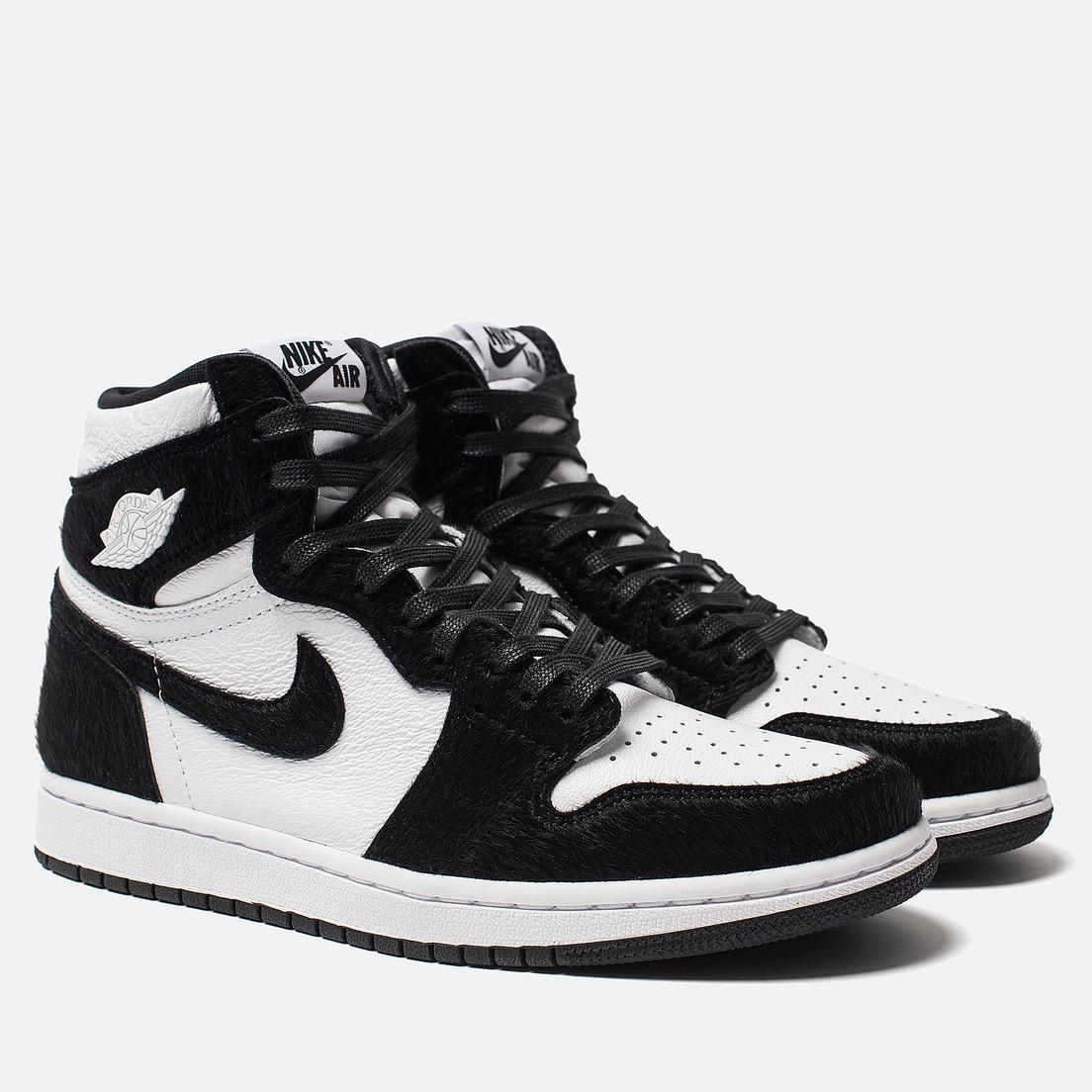 Високі кросівки в стилі найк Джордан на хутрі Air Jordan Retro What Black