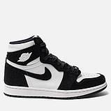 Високі кросівки в стилі найк Джордан на хутрі Air Jordan Retro What Black, фото 2