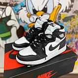 Високі кросівки в стилі найк Джордан на хутрі Air Jordan Retro What Black, фото 3
