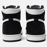 Високі кросівки в стилі найк Джордан на хутрі Air Jordan Retro What Black, фото 4
