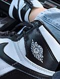 Високі кросівки в стилі найк Джордан на хутрі Air Jordan Retro What Black, фото 5