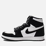 Високі кросівки в стилі найк Джордан на хутрі Air Jordan Retro What Black, фото 6