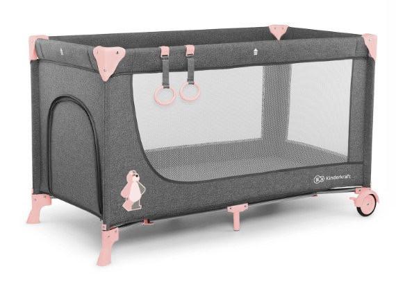 Детский большой манеж-кровать Kinderkraft Joy pink