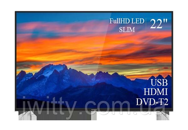 "Телевизор Томсон Thomson 22"" + ПОДАРОК FullHD/DVB-T2/USB (1080р)"