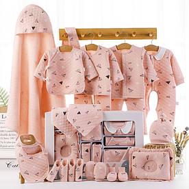 Подарочный набор для новорожденного на 22 предмета Розовый