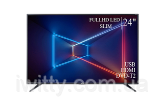 "Телевизор Sharp Шарп 24"" + ПОДАРОК FullHD/DVB-T2/USB"