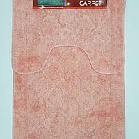 Набор ковриков с ворсом для ванной, розовый, 50х80 и туалета 50х40cм.