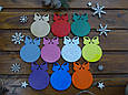 Именная елочная игрушка из дерева с Ободом и Цветным фоном | Лучшее украшение к Новому Году!, фото 4
